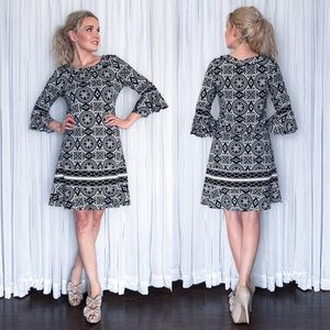 BCBG Pattern Mini Dress